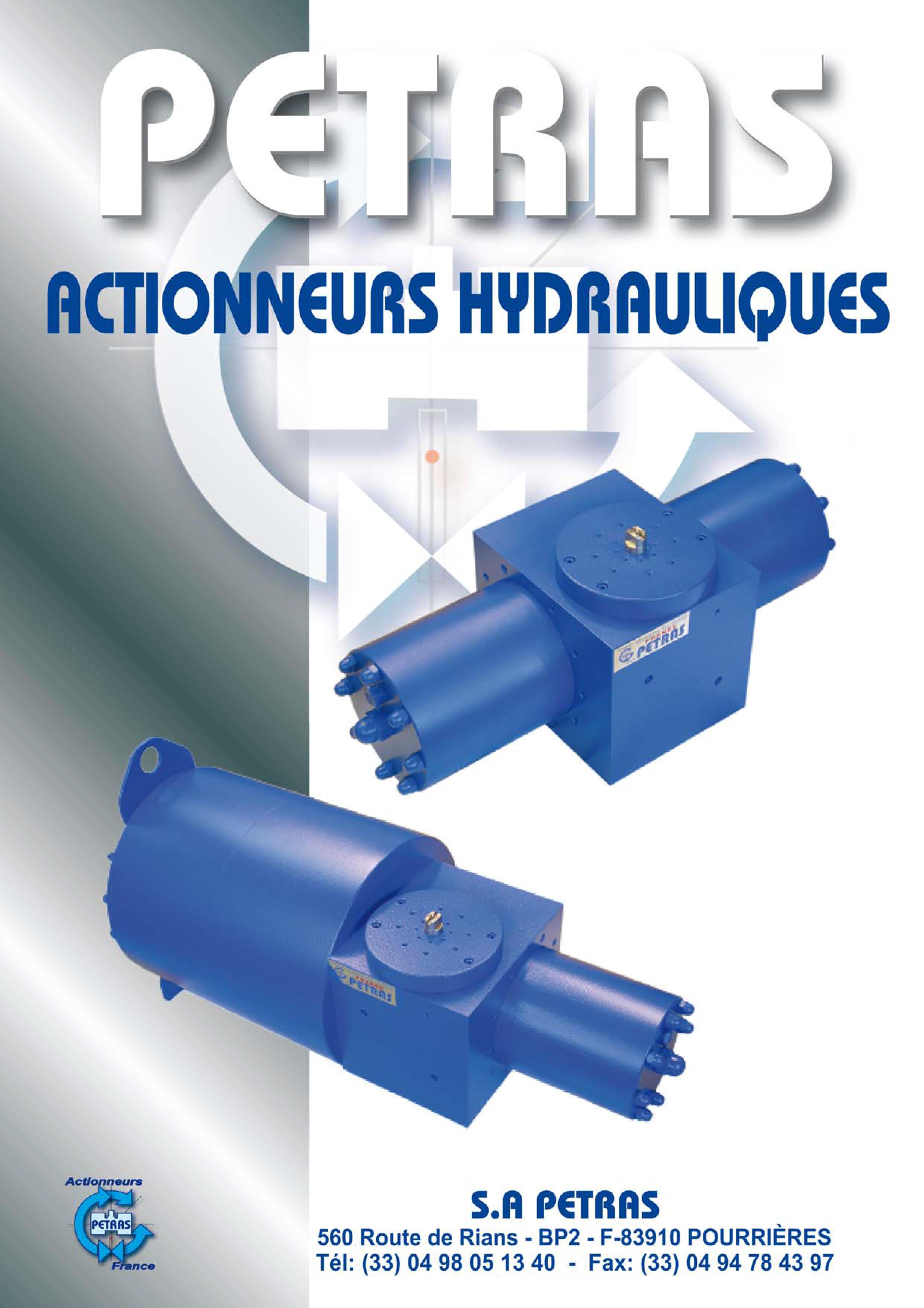 actionneurs hydraulique Petras