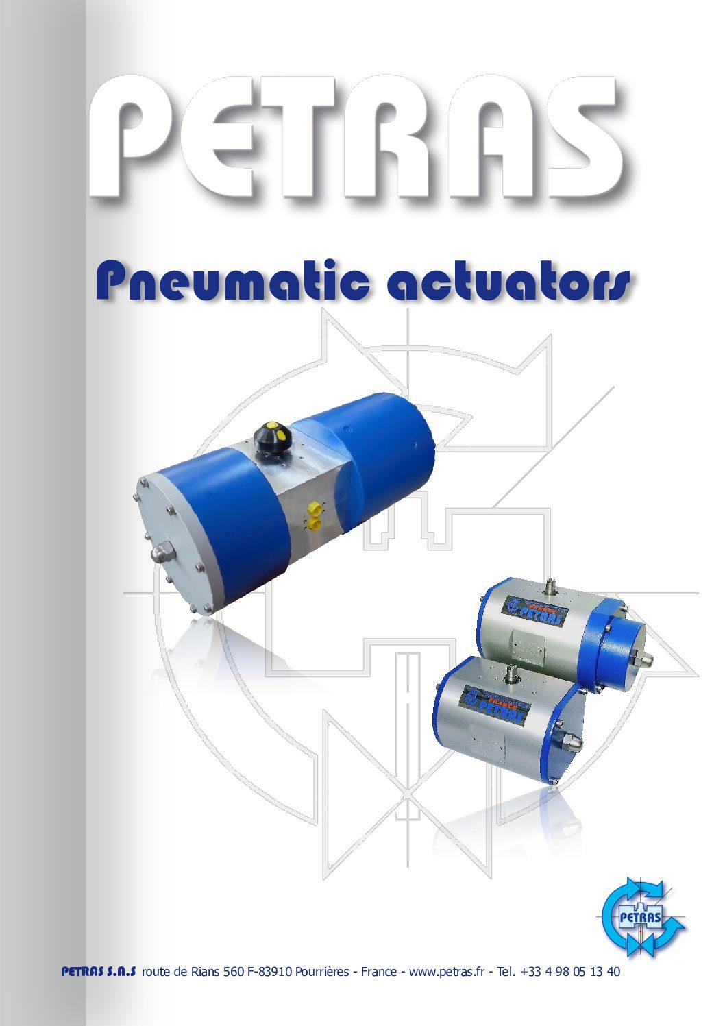 Actionneurs pneumatique Petras