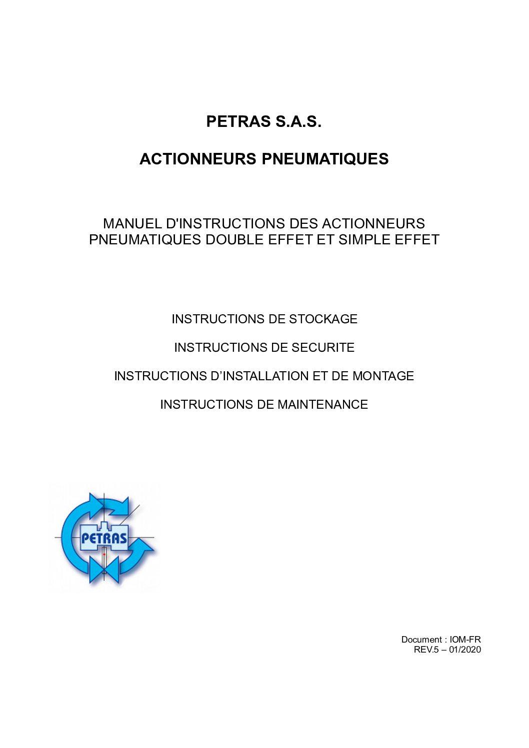 Manuel actionneurs pneumatiques